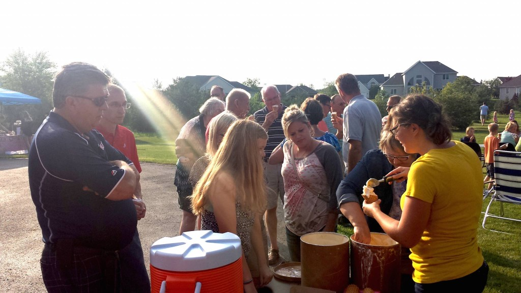 Ice cream at Young People's Dinner Sep 2015
